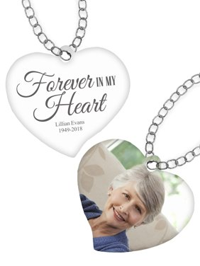 Personalized Forever In My Heart Photo Pendant