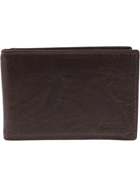 1a0e0bfff10a Product Image Fossil Ingram Rfid Bifold Leather Wallet - Brown