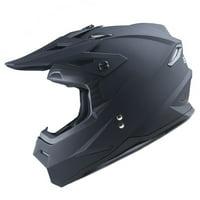 1Storm Youth Motocross Helmet BMX MX ATV Dirt Bike Helmet Teenager Racing Style 801Youth; Matt Black