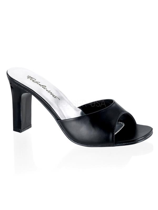 "Blk Pu Fabulicious Shoes Romance 3 1/4"" Romance Shoes Size: 5 a85199"