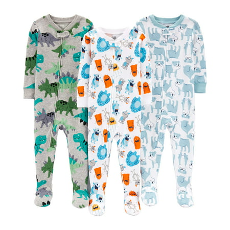 efea6fa7e12c Child of Mine by Carter s - One Piece Footed Snug Fit Cotton Pajamas ...