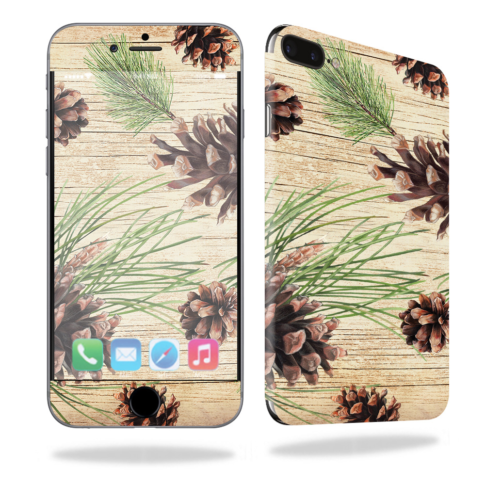 Skin For Apple iPhone 7 Plus – Pine Collage | MightySkins Protective, Durable, and Unique Vinyl Decal wrap cover | Easy To Apply, Remove, and Change Styles | Made in the USA