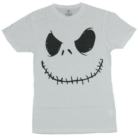 Nightmare Before Christmas Mens T-Shirt - Jack Skellington Big Stitch Smile
