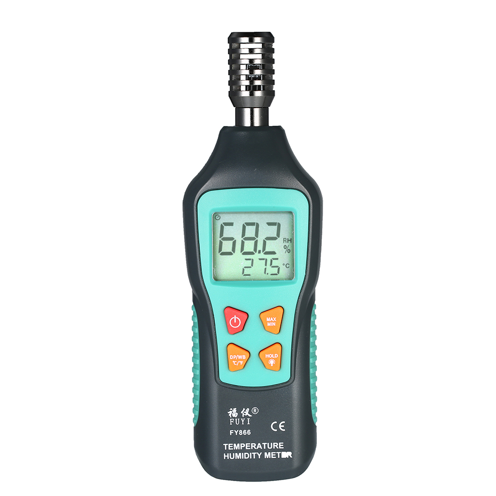 Industrial Engineering Test Etc High Accuracy Humidity Monitor Digital Thermometer Hygrometer,Handheld Mini LCD Psychrometer Temperature Meter for Laboratory