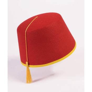 HAT-FELT RED FEZ