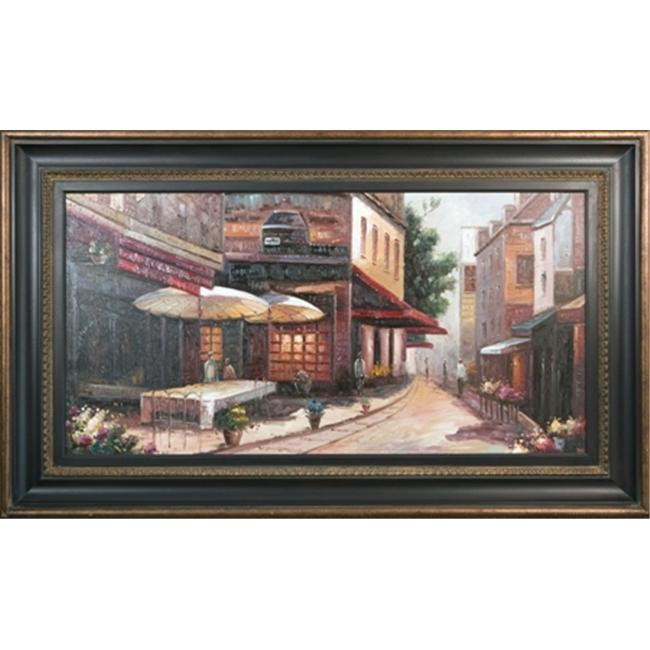 Artmasters Collection KM89155-670845 Corner Cafe Framed Oil Painting