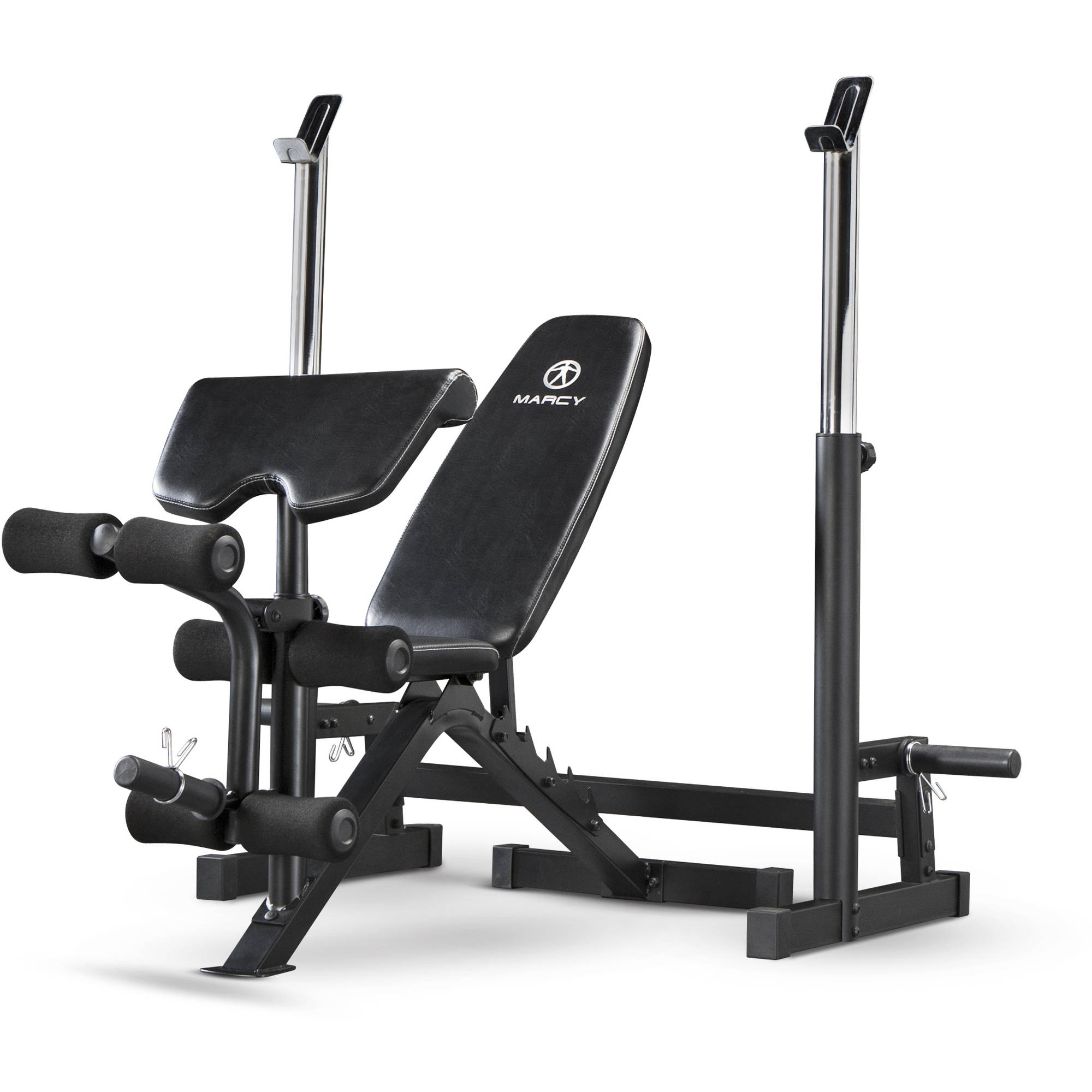 Marcy Deluxe Olympic Bench with Rack
