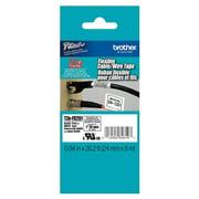 Brother Label Tape Cartridge, Label Type Multipurpose Black/White TZEFX251