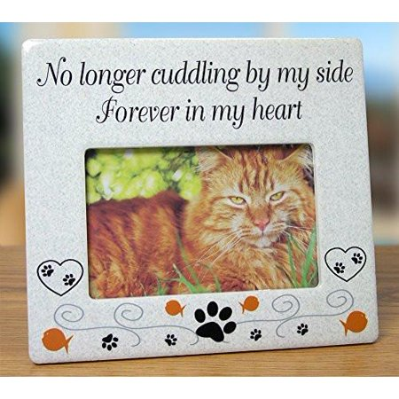 Cat Memorial Ceramic Picture Frame