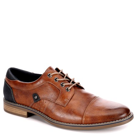 restoration mens justin lace up cap toe oxford shoes ()