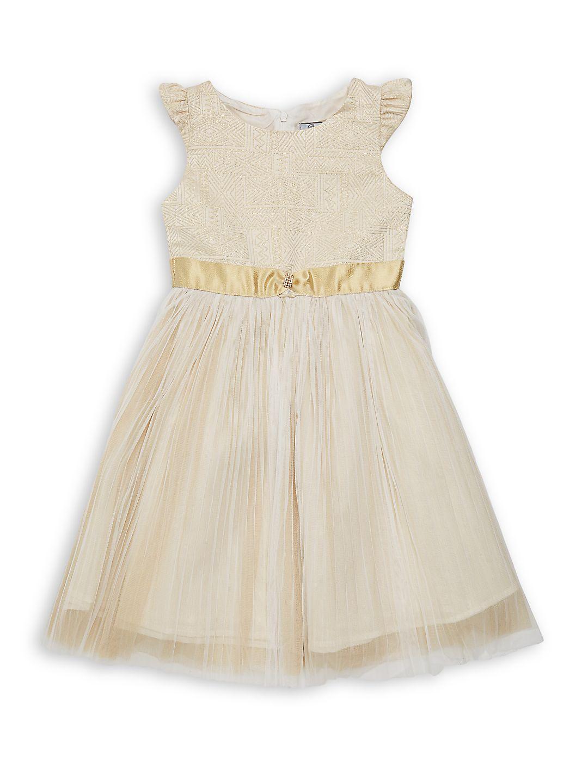Girl's Melissa Jacquard Chiffon Dress