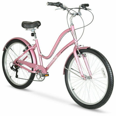"Hyper Rose Gold Women's Comfort Bike, 26"" Wheels, with 7-Speed Shimano Twist Shifters"