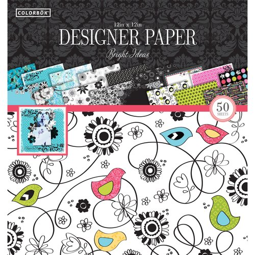 "Colorbok 12"" Designer Paper Pad, Bright Ideas"