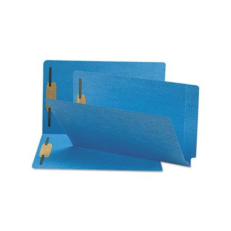 Colored File Folder - Smead 28040 Blue End Tab Colored Fastener File Folders with Reinforced Tab SM...