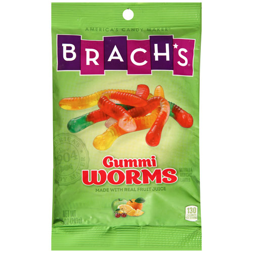 Brach's Wild Fruity Gummi Worms, 8.5 oz