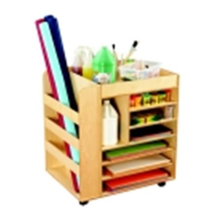 Childcraft Mobile Art Cart, 30 W x 24 D x 33 H in.
