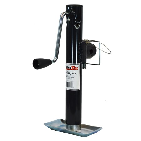 RanchEx Tubular Mount Side wind Trailer Jack, 2,000 lb. Lift Capacity, 10