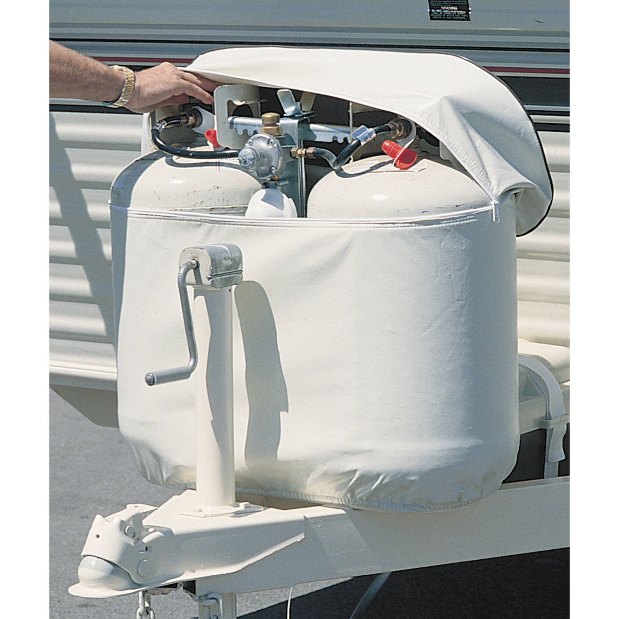 ADCO Double Propane Tank Cover, Polar White