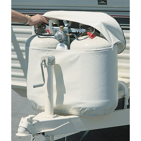 ADCO Double Propane Tank Cover, Polar White (Rv Propane Tank Cover)