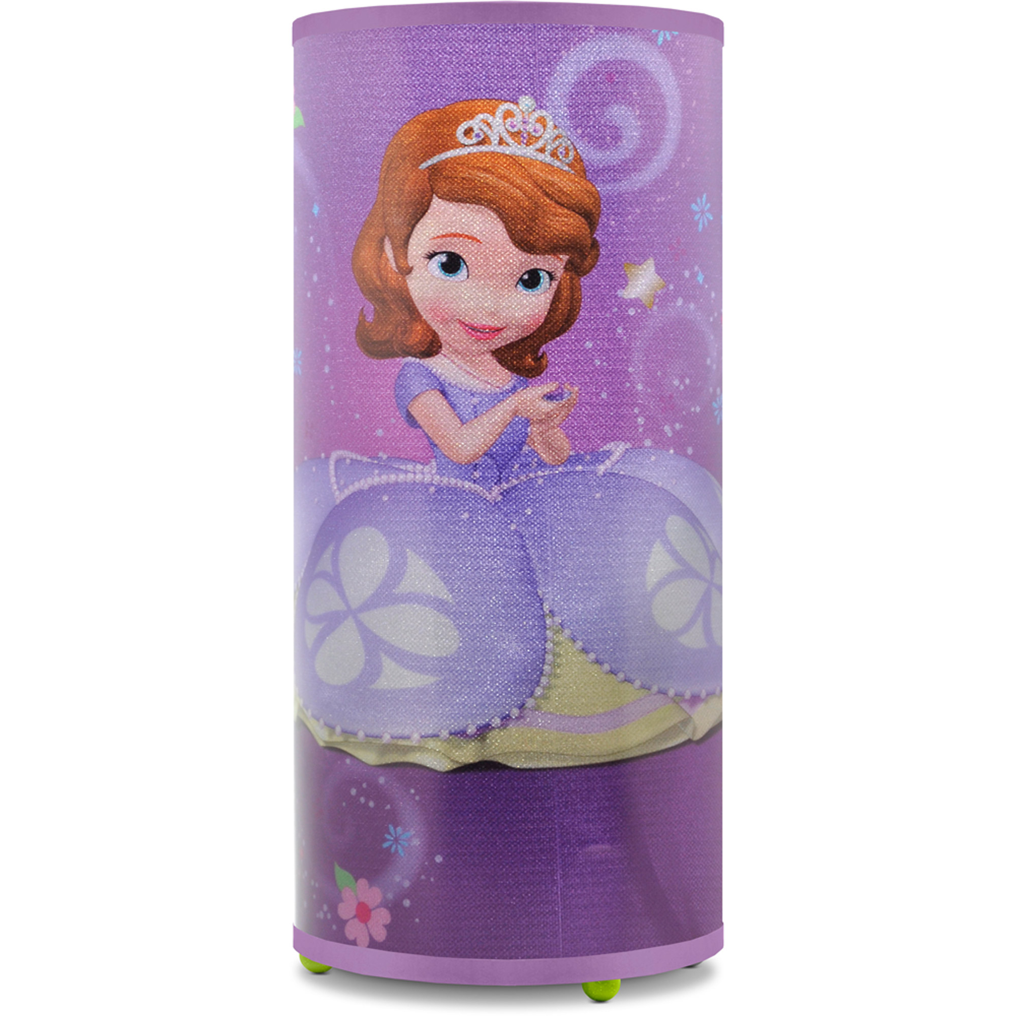 "Disney Sofia the First Cylinder Glitter Lamp- 10""H x 5""D x 5""W"