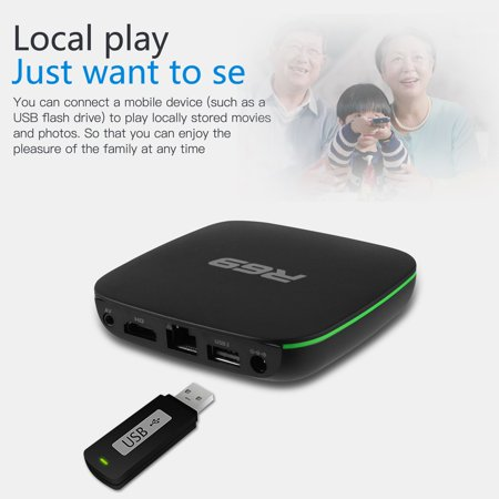 Smart Wifi Internet TV Box Multimedia Player Remote Control HDMI ...