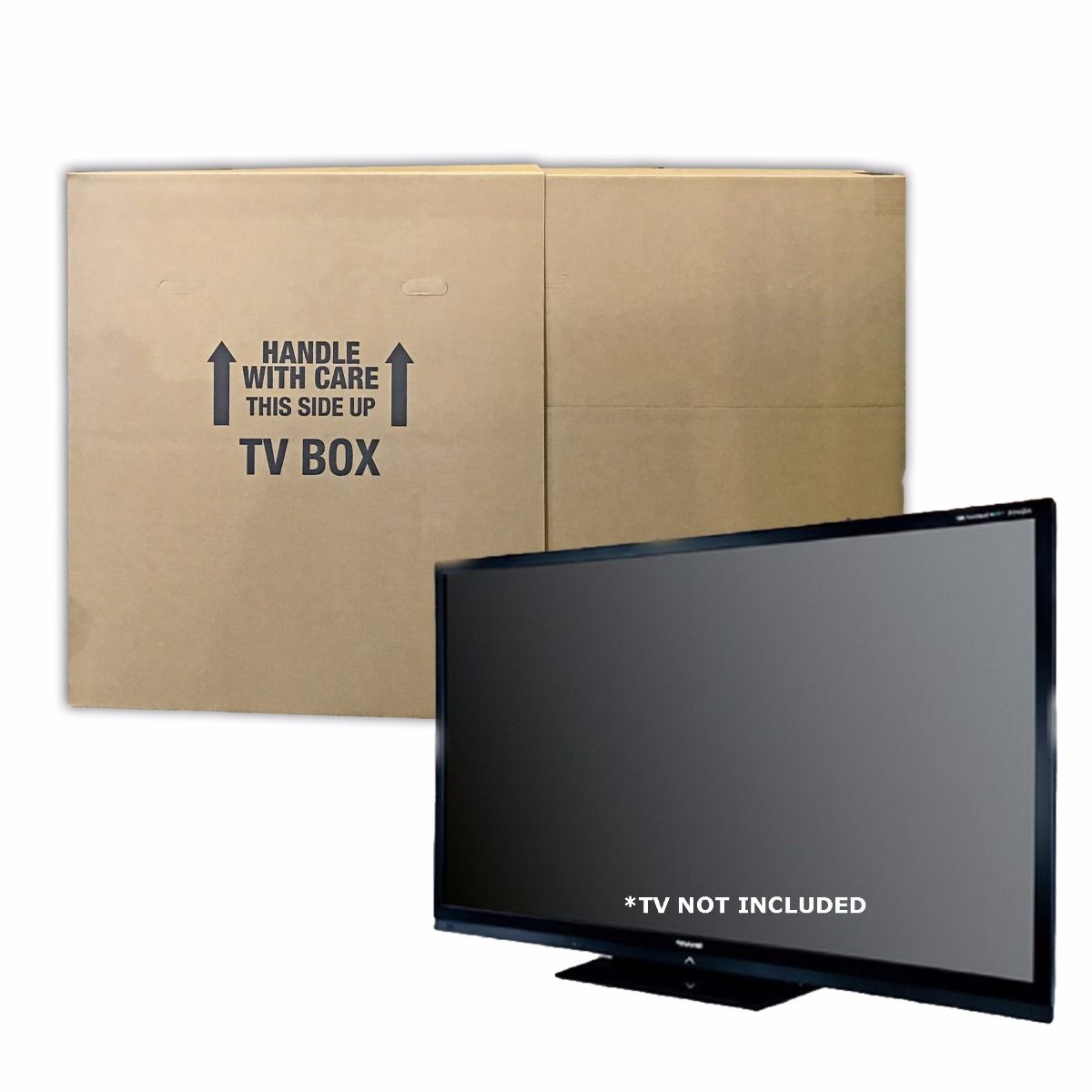 Uboxes TV Moving Box, Up to 70in, 6in Wide, 2 Pack