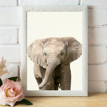 Baby Zoo Wall (Baby Zoo Elephant - Nursery Wall Décor Farm Baby Animal Art)