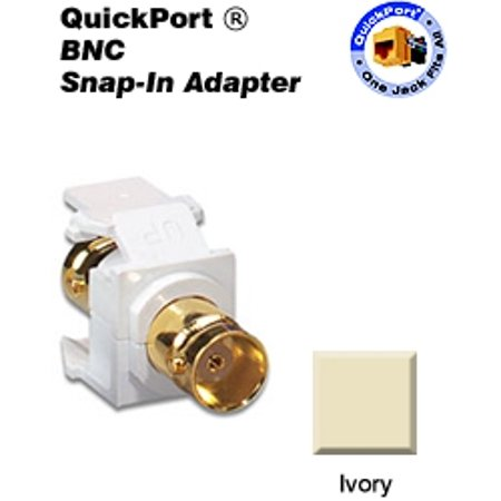 Leviton 40832-BI BNC QuickPort Snap-In Adapter - Ivory