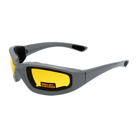 - 2018 Maxx Sunglasses SS1 Gray Frame with Yellow Ansi Z87+ Foam Lens