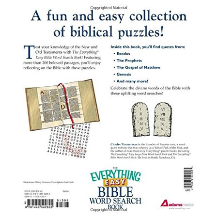 The Everything Easy Bible Word Search Book : More than 200 inspirational  puzzles for all ages