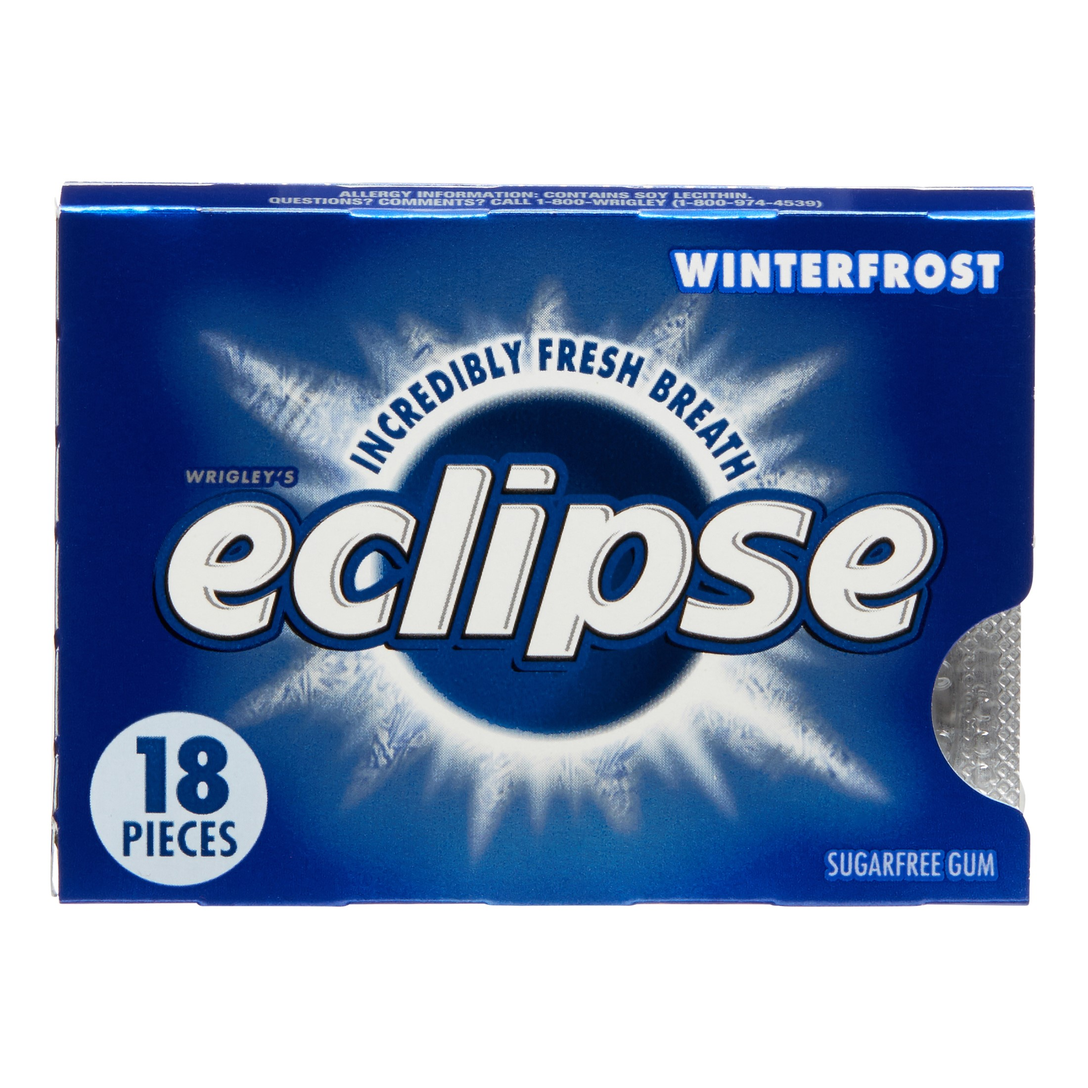 Eclipse Chewing Gum, Winterfrost, 18 Count Tear Pack (Pack of 8) by Wrigley