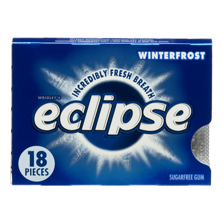 Eclipse Chewing Gum, Winterfrost, 18 Count Tear Pack (Pack of 8)