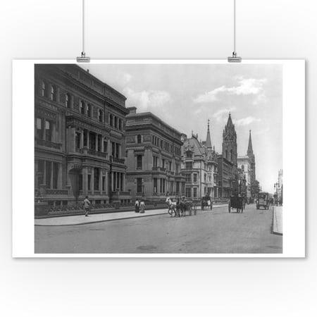 Nyc Street Scene (Street Scene of 5th Avenue & 51st Street NYC Photo (9x12 Art Print, Wall Decor Travel)
