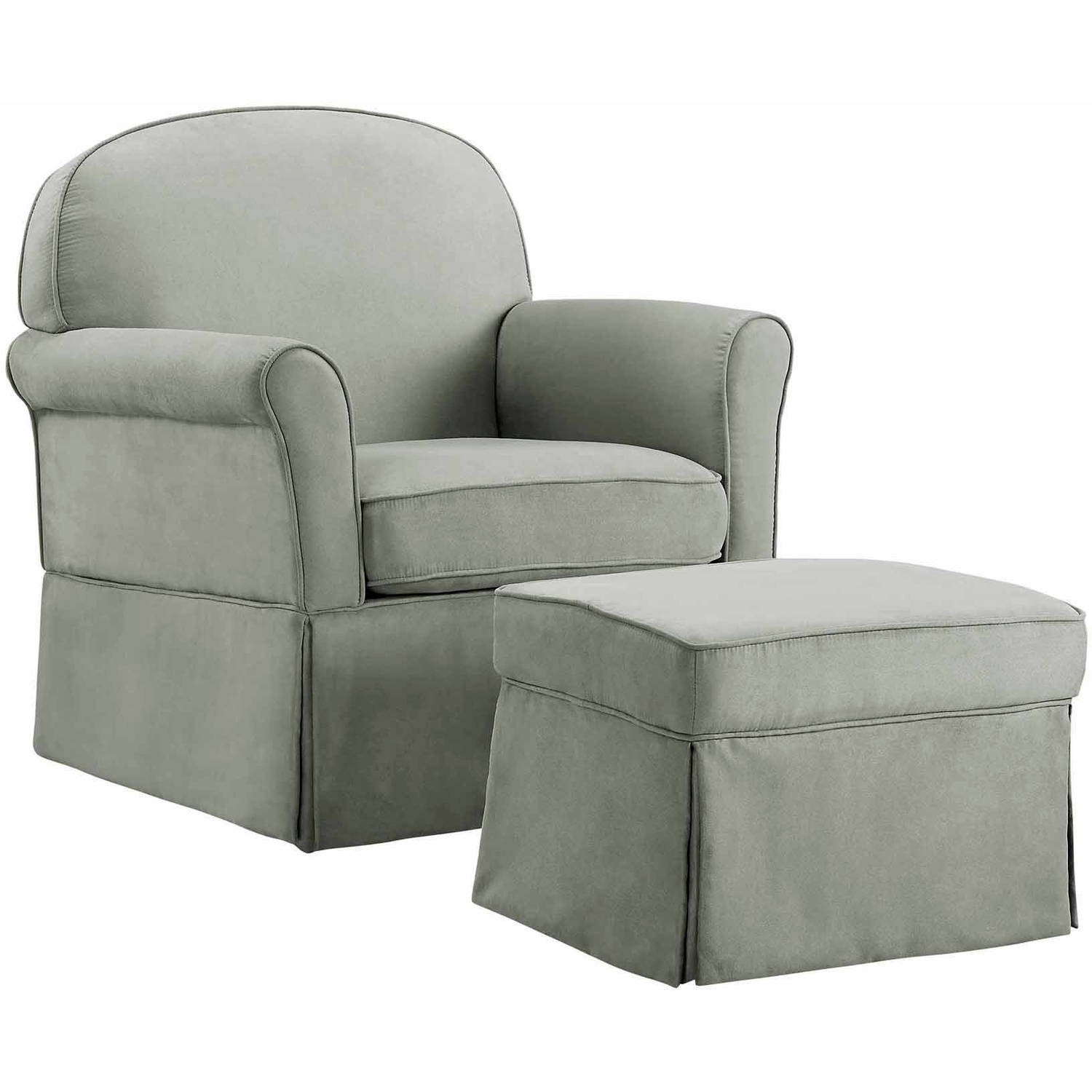 Baby Relax Evan Swivel Glider and Ottoman Gray by Baby Relax