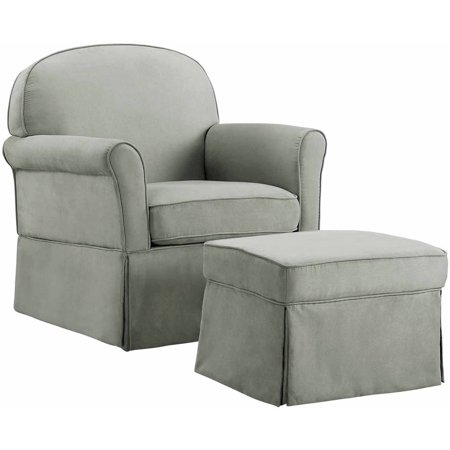 Baby Relax Evan Swivel Glider and Ottoman Gray