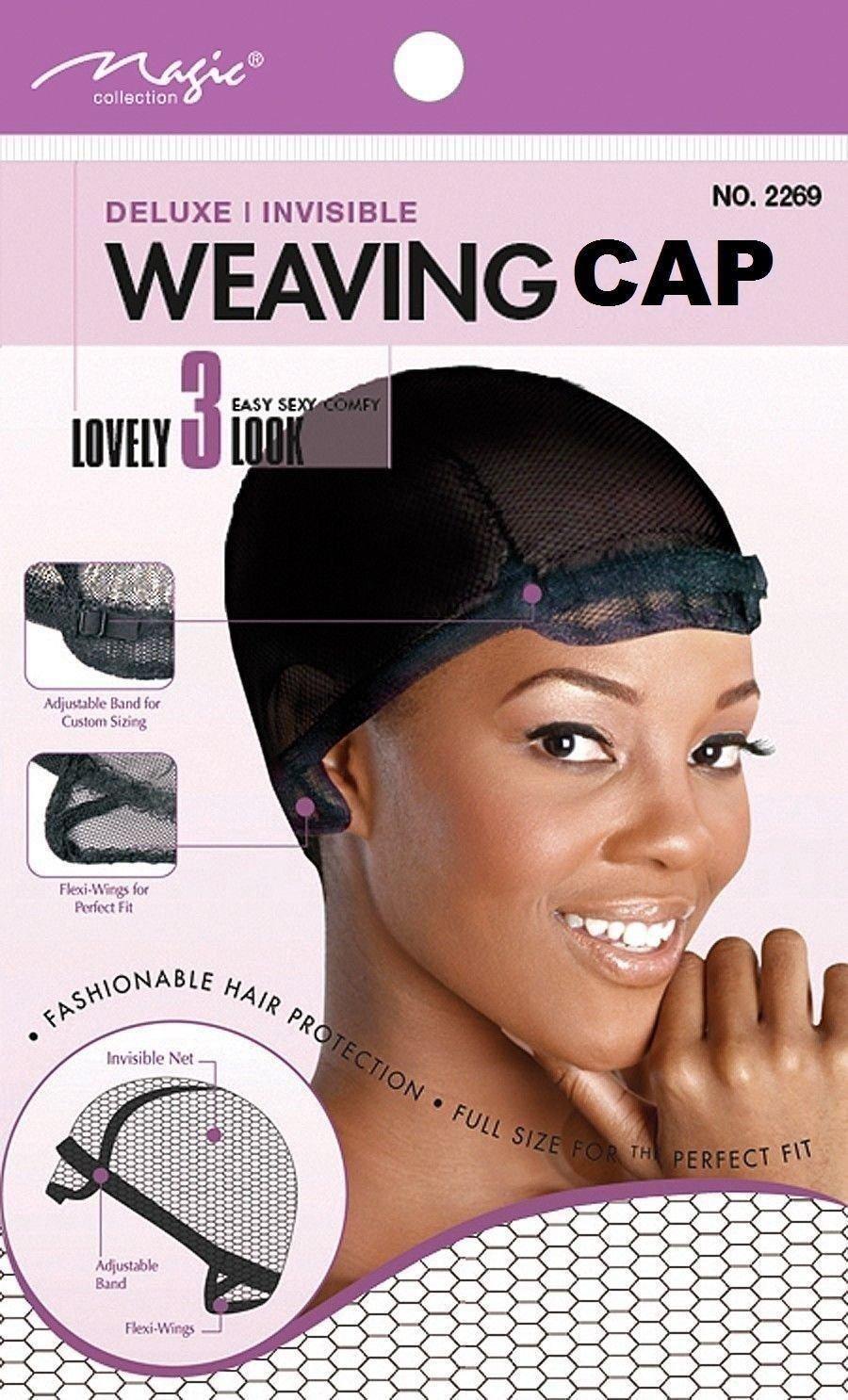 Magic Weaving Cap Deluxe Extra Large Net Adjustable Band Invisible