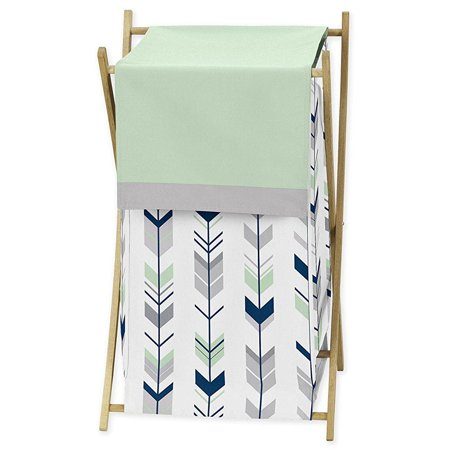 Sweet Jojo Designs Baby/Kids Clothes Laundry Hamper for Grey, Navy and Mint Woodland Arrow Girl or Boy Bedding Sets