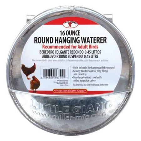 Image of Little Giant Galvanized Round Hanging Waterer Galvanized Steel