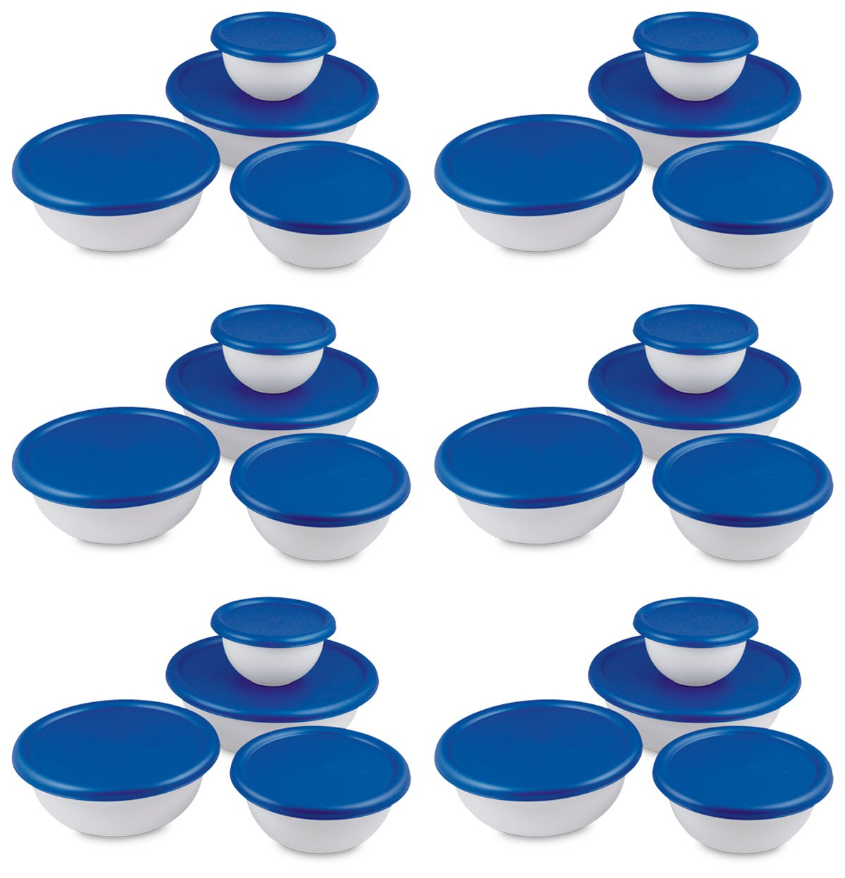 6 Pack Sterilite 07479406 8-Piece Plastic Kitchen Covered...