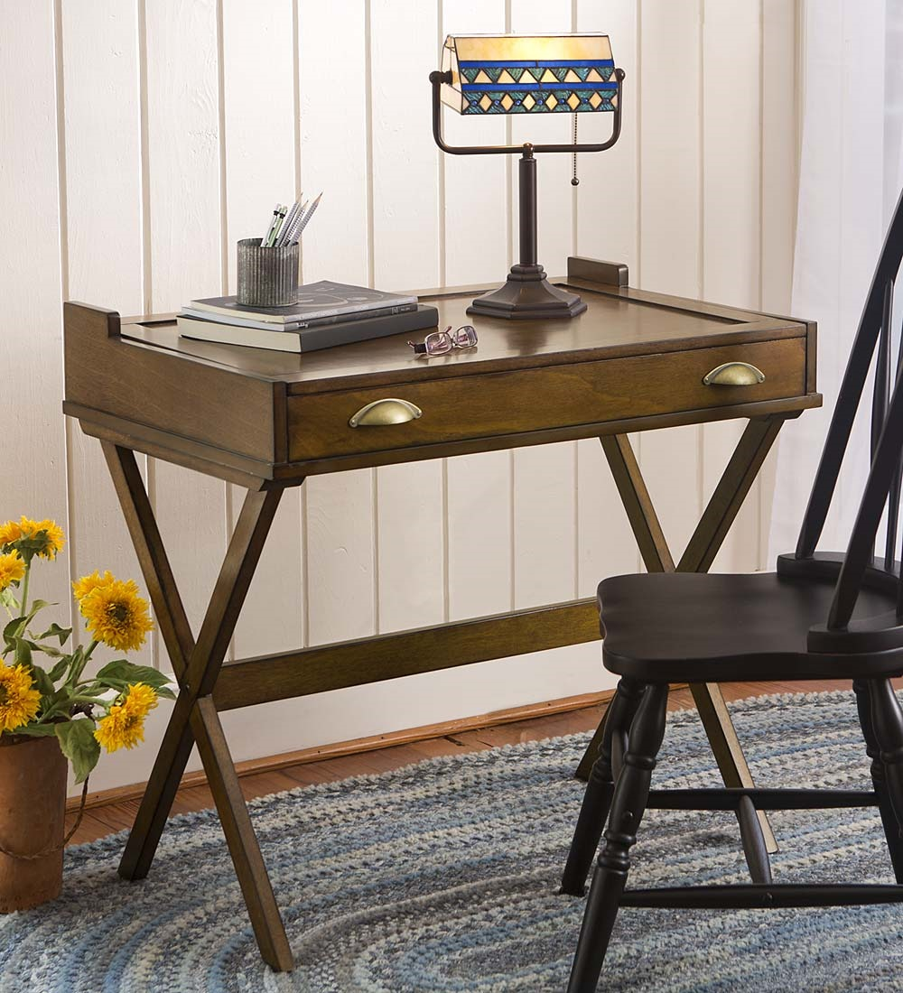Plow & Hearth Flip-Top Desk with Cork Board