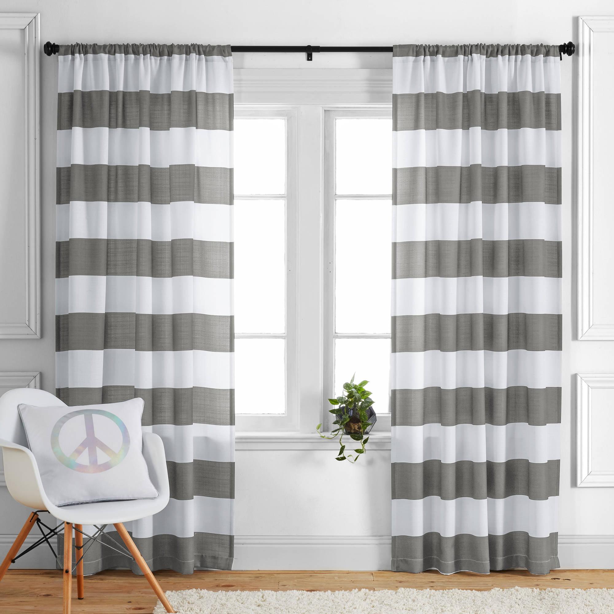 Better Homes and Gardens Stripes Curtain Panel - Walmart.com