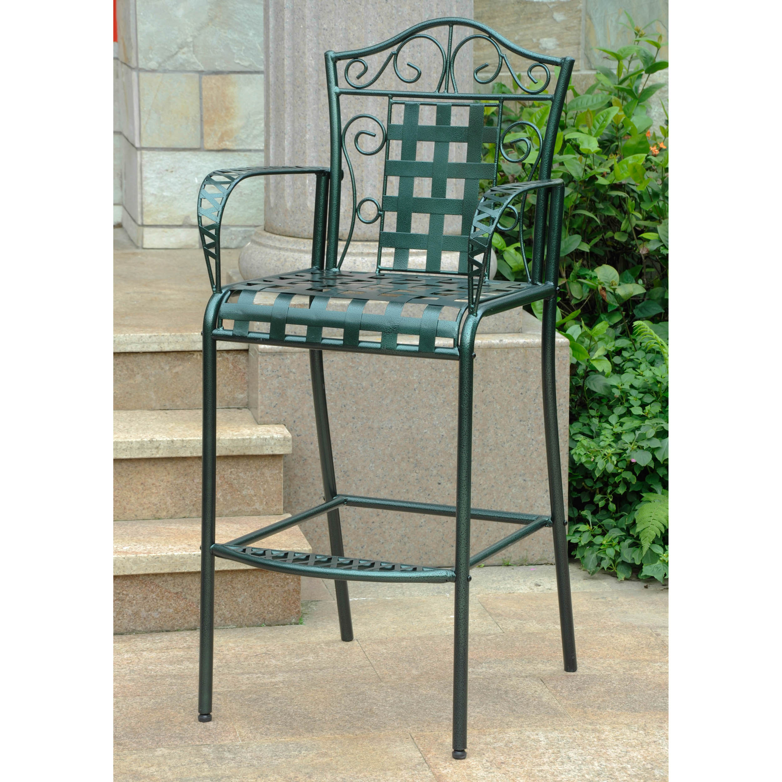 Mandalay Iron Bar-height Dining Chairs (Set of 2)