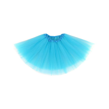 Womens Ballerina Tutu Adult Halloween Costume Accessory,Sky Blue