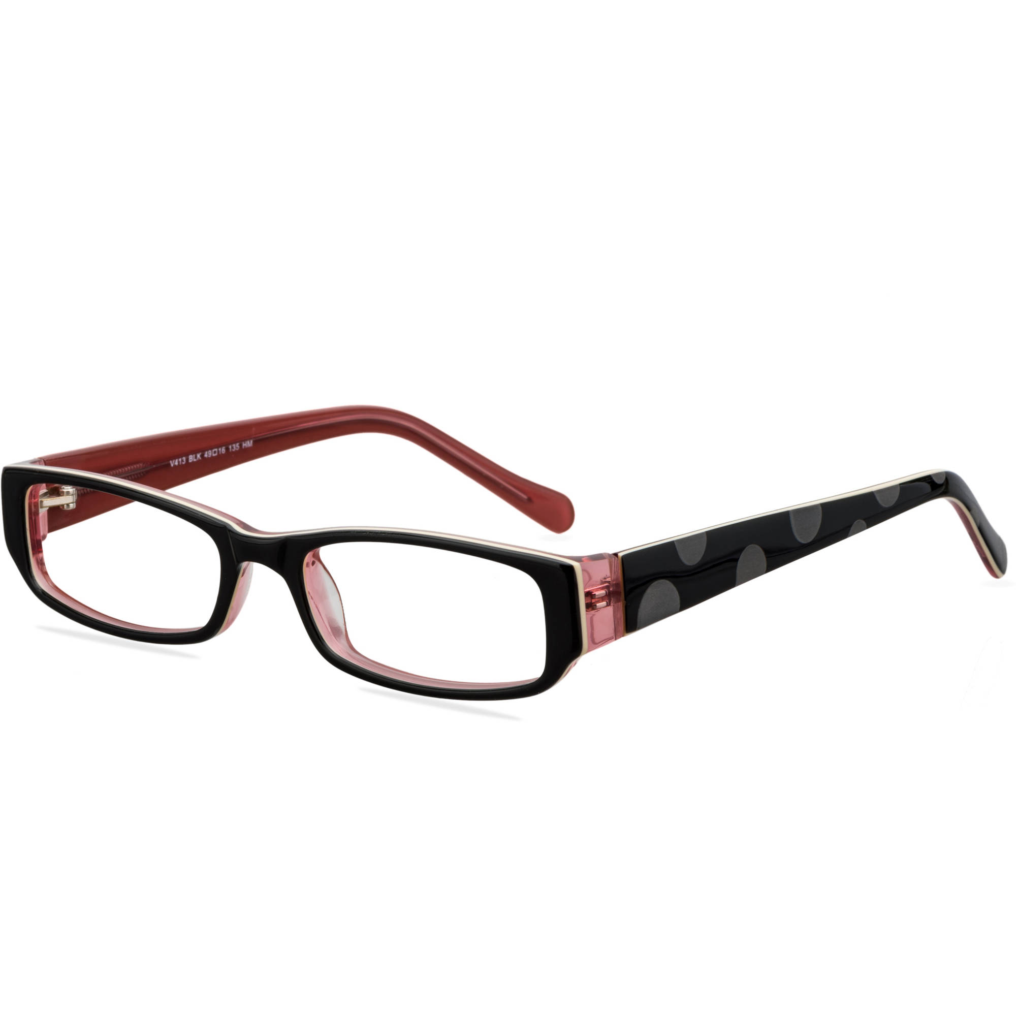 Victorious Womens Prescription Glasses, V413 Black - Walmart.com
