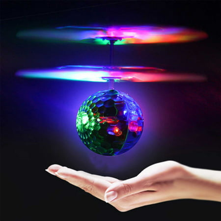 RC Flying Light Ball Infrared LED Flashing Light Ball Toys Christmas Birthday Gifts for Boy Girls