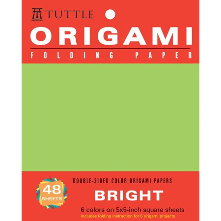 """Origami Hanging Paper - Bright - 5"""" - 48 Sheets : Tuttle Origami Paper: High-Quality Origami Sheets Printed with 6 Different Colors: Instructions for 6 Projects Included"""