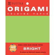 "Origami Hanging Paper - Bright - 5"" - 48 Sheets : Tuttle Origami Paper: High-Quality Origami Sheets Printed with 6 Different Colors: Instructions for 6 Projects Included"
