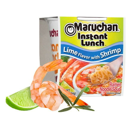 (12 Packs) Maruchan Lime with Shrimp Instant Lunch, 2.25