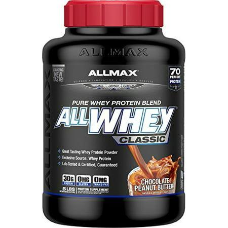 ALLMAX ALLWHEY Classic 100% Pure Whey Protein, Chocolate Peanut Butter, 20 Po...