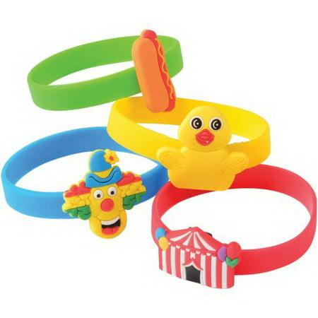 (Price/Dozen)US TOY JA846 Carnival Rubber Bracelets](Bulk Carnival Toys)